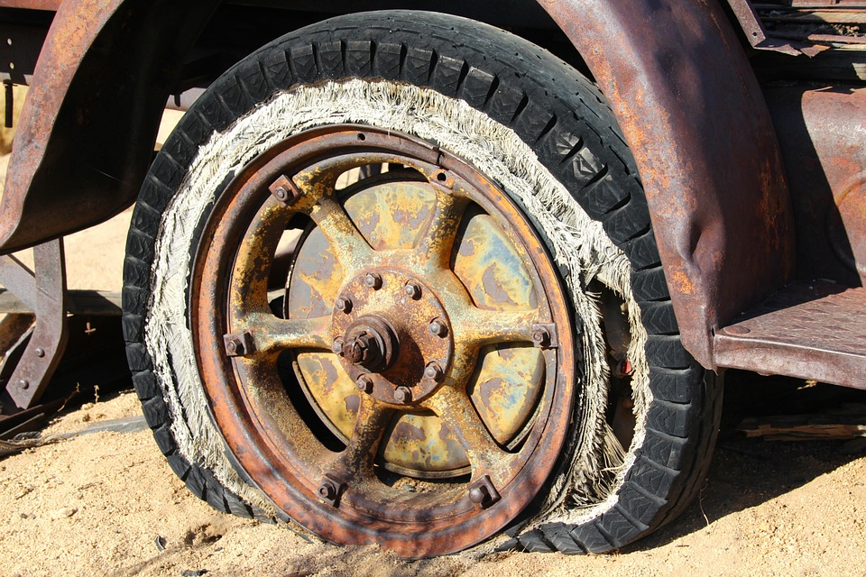 píchnuté pneu